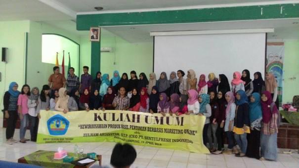kuliah umum FP Unila April 2016